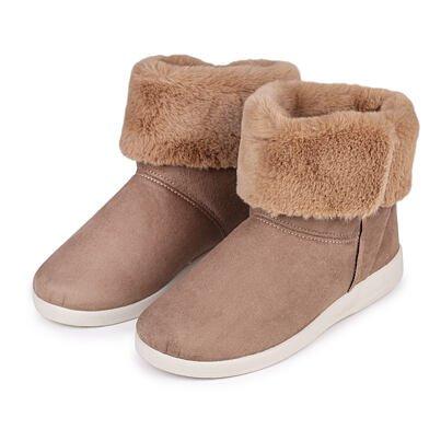 Dámske členkové zimné topánky s ovčou vlnou Lucia svetlo hnedá