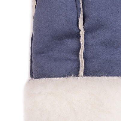 Mănuși cu un deget din lână de oaie velur - albastru