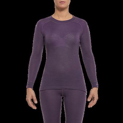 Tricou funcțional merino femei WARM Thermowave- Mov Gri