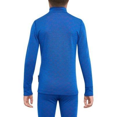Chlapčenské funkčné tričko zips Merino XTREME Thermowave Modrá