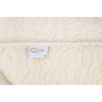 Pătură din lână de oaie cu dublu strat - naturală