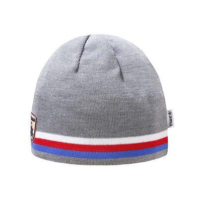 Pletená čiapka Merino Kama A154 svetlosivá