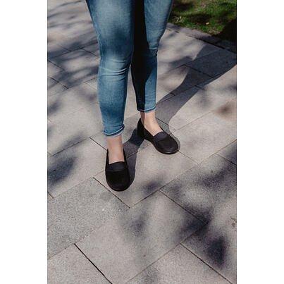 Női kényelmi ortopéd balerina cipő - fekete