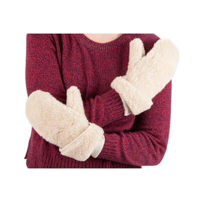 Mănuși cu un deget din lână de oaie - bej