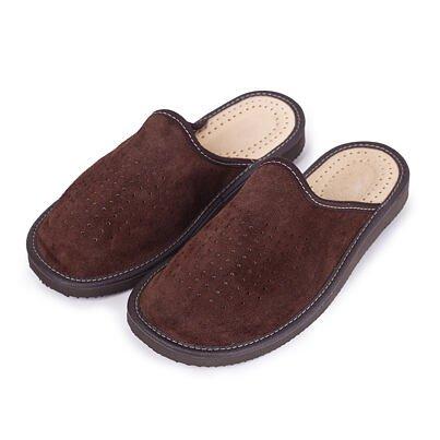 Men's leather summer slippers