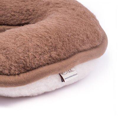 Patkó párna birka gyapjúból - barna