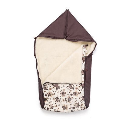 Bunting Bag with sheep wool - Owls