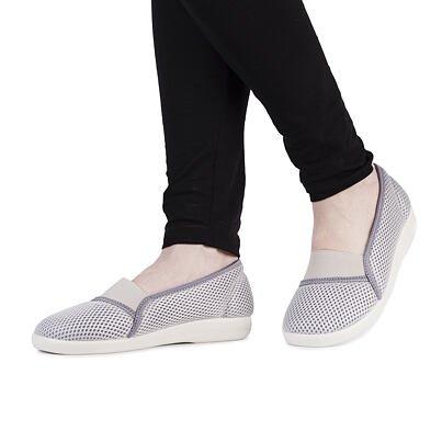Women's comfort ballerinas -  Gray