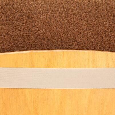 Wool dining chair cushion -  Brown
