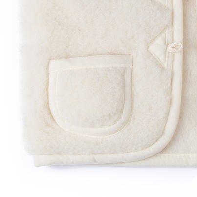 Kid's wool vest - Natural