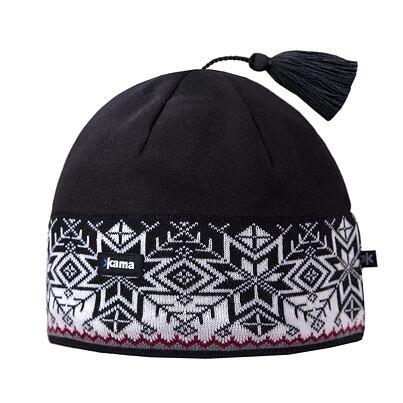 Pletená čepice merino Kama A52 bílá