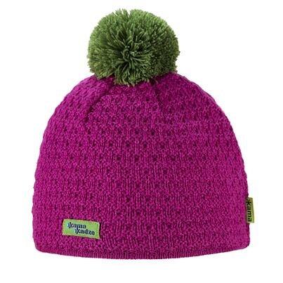 Knitted cap merino Kama K36 -  Pink