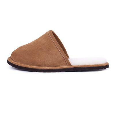 Pánské kožené pantofle s ovčí vlnou Tom