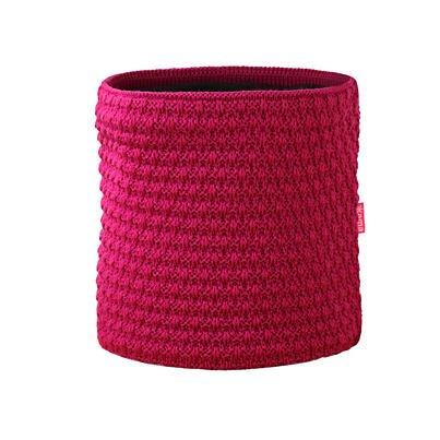 Knitted merino neck warmer KAMA S26 -  Dark gray
