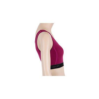 Sutien funcțional pentru femei Sensor Merino Active roz