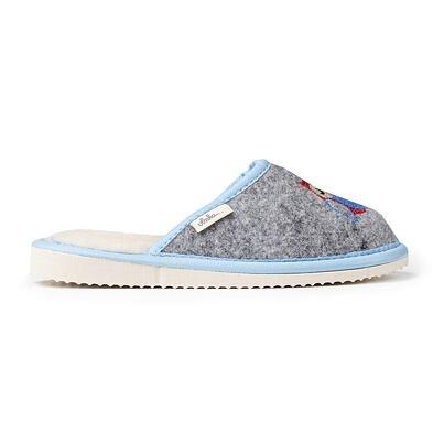 Detské filcové papuče s ovčou vlnou sovička