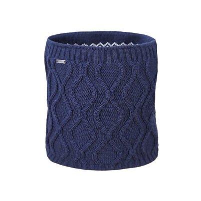 Oboustranný pletený nákrčník merino KAMA S30  tmavomodrá