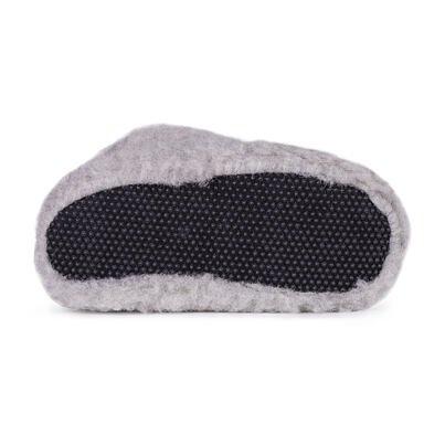Wool TV slipper boots - Light Gray