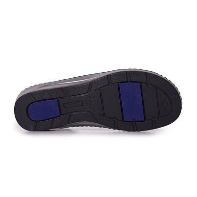 Dámske kožené sandále na klinku Ela  čierna