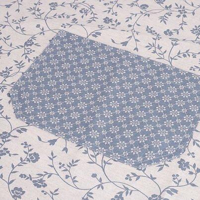 Kuchynská zástera kvet modrá
