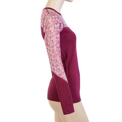 Womens functional shirt Sensor Merino Impress - Pink