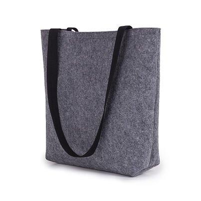 Filcová taška s dlouhými uchy šedá