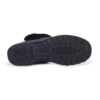 Dámske členkové zimné topánky s ovčou vlnou Bára čierna