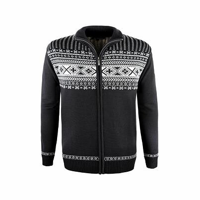 Unisex sweater merino Kama 4047 -  Black