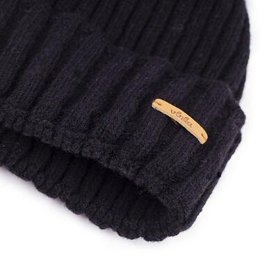 Vlněná čepice Vlnka V04 černá