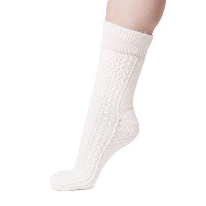 Șosete tradiționale de oaie Merino - Alb