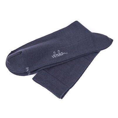 Nyári Merinó magasszárú zokni 2 pár - szürke
