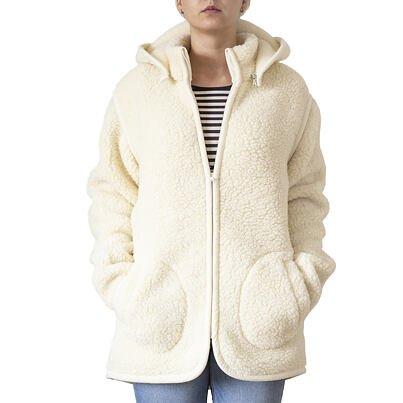 Wool sweatshirt 2-in-1 -  Beige