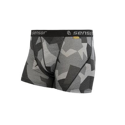 Férfi funkcionális merinó boxeralsó MERINO IMPRESS CAMO Sensor