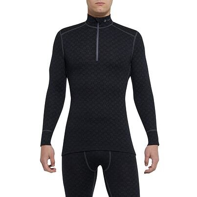 Men's functional shirt merino ZIP XTREME Thermowave -  Black