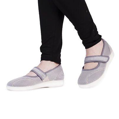 Dámske komfortné baleríny na suchý zips sivá