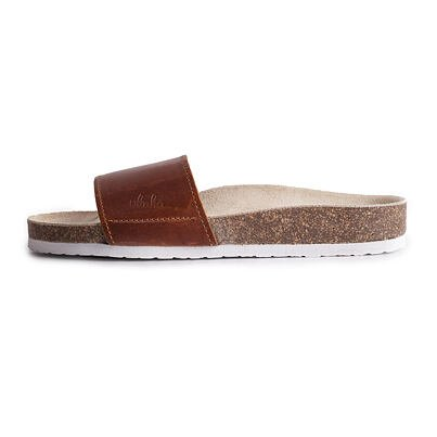 """Women's anatomical cork slippers """"Trepky"""" -  Brown"""