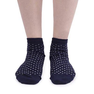 Bavlnené ponožky členkové  modrotlač