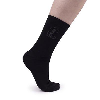 Bio bavlnené ponožky  čierna