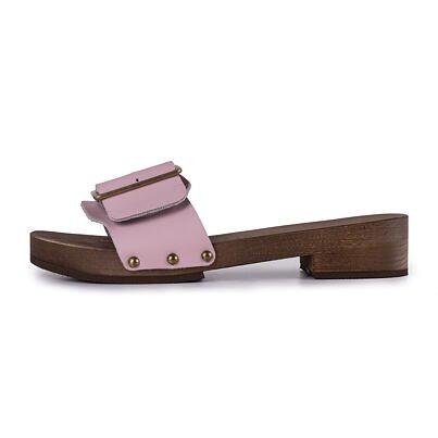 Women's low-heel clogs -  Pink