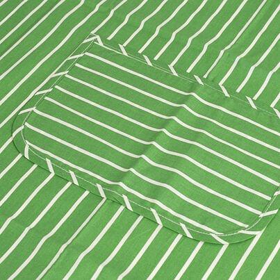 Konyhai kötény - zöld csík