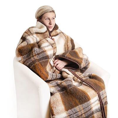Belebújós TV néző takaró birka gyapjúból