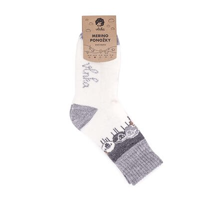 """Sheep socks Merino """"Sheep Herd"""""""