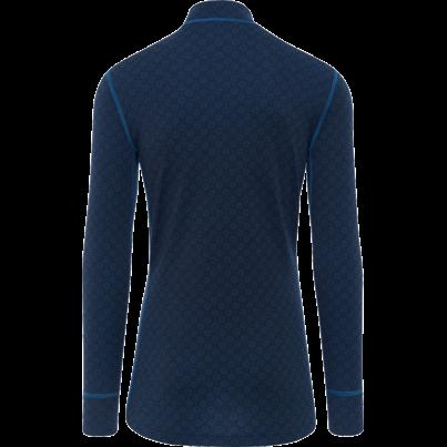 Tricou funcțional merino zip bărbați XTREME Thermowave - Albastru închis