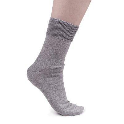 Bavlněné ponožky s volným lemem světle šedá