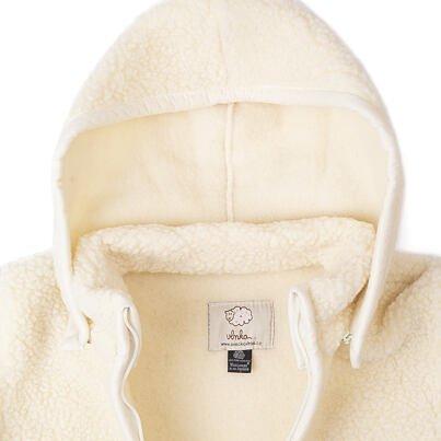 2 az 1-ben pulóver birka gyapjúból - természetes Bézs