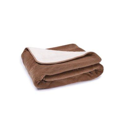 Gyapjú ágynemű szett - barna