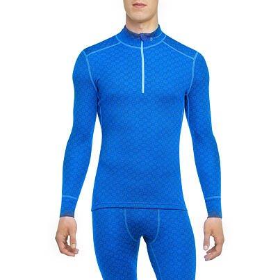 Pánske funkčné tričko zips merino XTREME Thermowave Modrá
