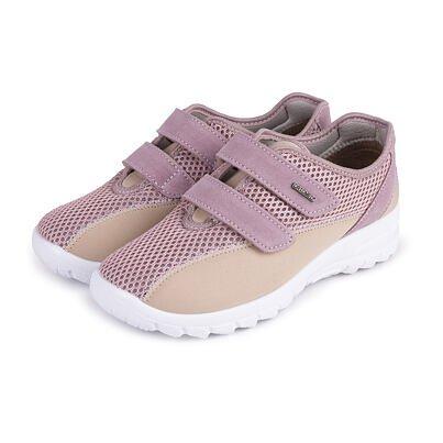 Női légáteresztő ortopéd tornacipő tépőzárral -  Rózsaszín