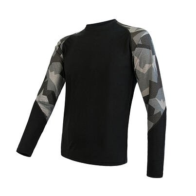 Mens functional shirt Sensor Merino Active  Camo