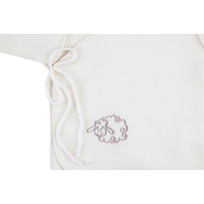 Novorodenecká mikina  biela